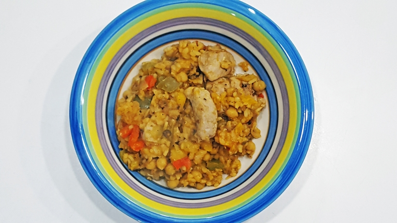 Pork and Squash Paella